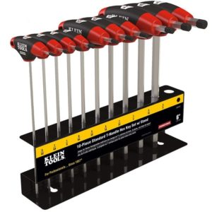 T Handle Hex Key Set with Stand, SAE