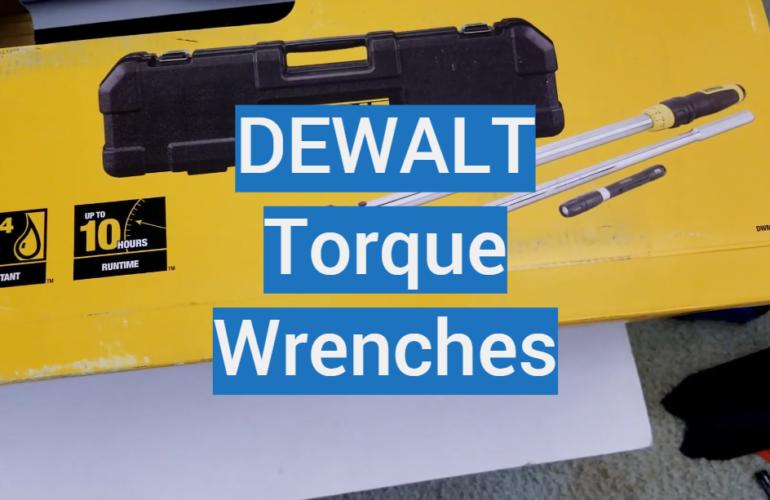 5 DEWALT Torque Wrenches