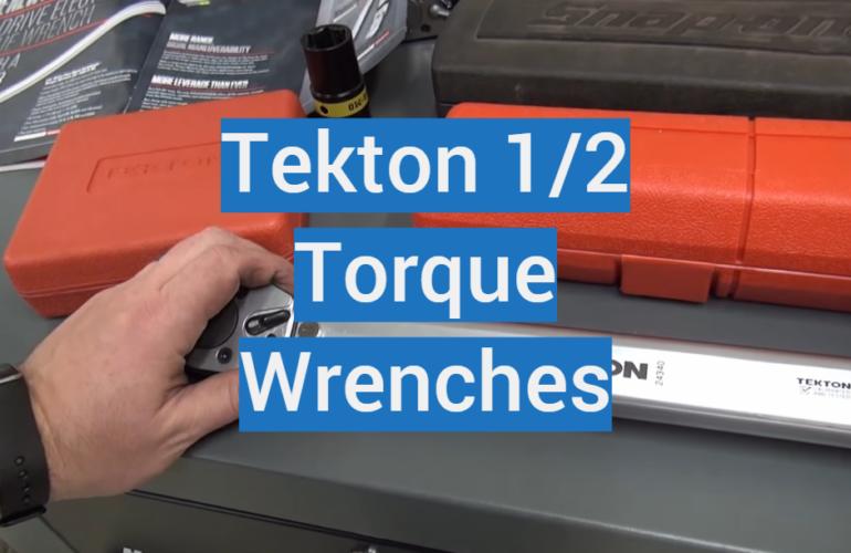 5 Tekton 1/2 Torque Wrenches