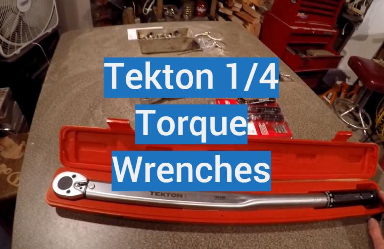 5 Tekton 1/4 Torque Wrenches