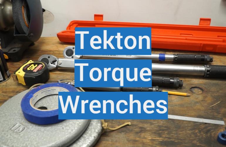 5 Tekton Torque Wrenches